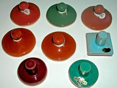 8 Vintage Terra Cotta Cookie Stamps!  Rycraft and More..