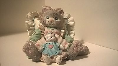 """Enesco  Calico Kittens  """"Friends are Cuddles of Love""""  Pillow and doll"""
