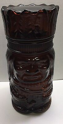 Vintage Tobacco Humidor Indian Chief Face Jar Smoking El Producto Cigars