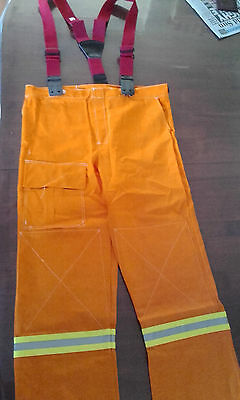 FIREFIGHTING PANTS with Braces.  ( XL).  PROBAN PPC WILDLANDS