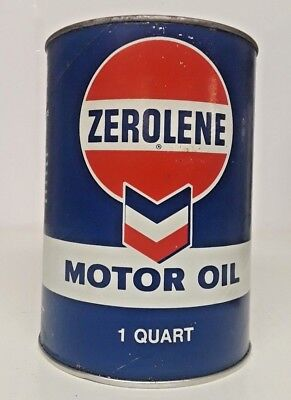 Zerolene Oil Can by Chevron Full Vintage Can 20-20W