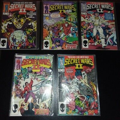 Secret Wars Comic Lot - 5 issues - 3, 5, 6, 7, 8 - See Images!