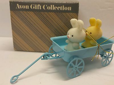 Bunnies In Wagon The Spring Bunny Collection Avon Gift Rabbit Ornament