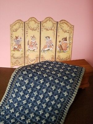 1:12 scale Handmade Dollhouse size Vintage OOAK Beautiful Bed Cover/Blanket