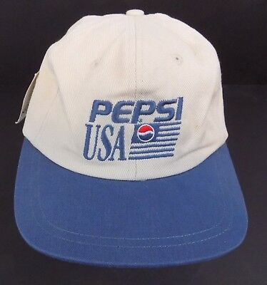 9f9a3d0107d Vintage Pepsi Cola Baseball Hat Cap USA - Soda - Pop - Adjustable -Tan