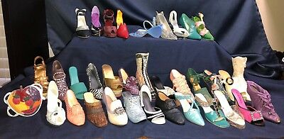 ⭐Just The Right Shoe⭐ Lot Of 34 Shoes & 1 Purse (1 Signed Shoe)