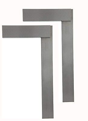 """2Pc 10"""" Machinist Steel Square Design Layout for Hobby Crafts Jewelry Making"""