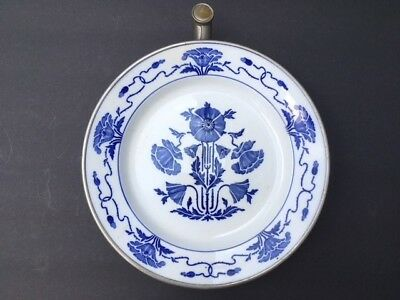 vintage blue and white warming plate Sternauware New York
