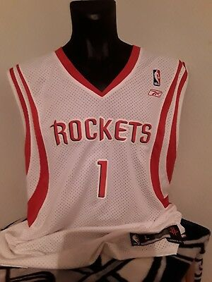 91e822c02 Tracy McGrady Houston Rockets SZ L +2 Reebok Authentic Team NBA Jersey~SEWN