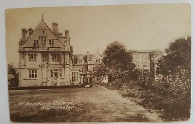 1900's Photo Postcard of St. BONIFACE COLLEGE in WARMINSTER UK nice condition