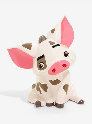 Disney Moana Pua Pig Coin Piggy Bank Ceramic Baby Gift 8x5 Licensed New in Box