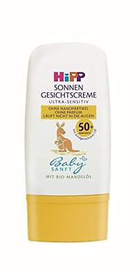 HiPP Baby MINI Sunscreen with ORGANIC Almond Oil-SPF 50- Bottle- Made in Germany