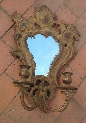 Vintage Style French Art Nouveau Mirror with Candle Holders