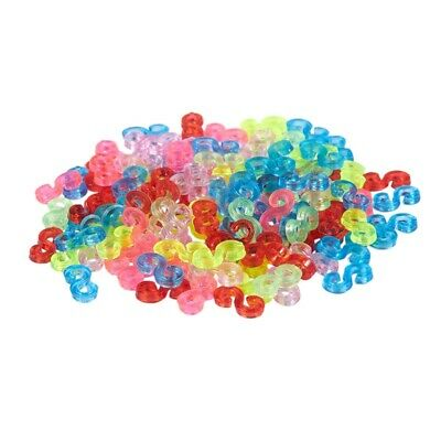 New Amazing Loom Bands Pack of 125 Colorful S-Clips M6F3