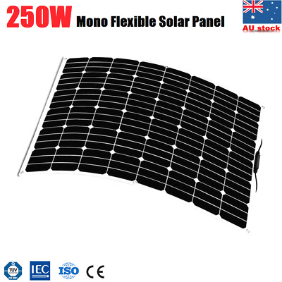 250W Mono Flexible Solar Panel Caravan Boat 4WD 12V Battery Charging 250 WATT