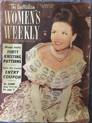 THE AUSTRALIAN WOMEN'S WEEKLY April 10 , 1963  VINTAGE COLLECTABLE