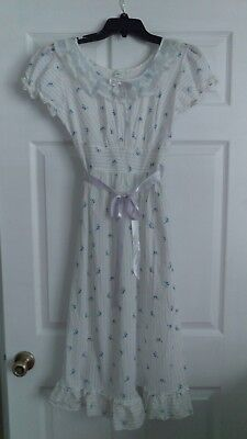 Vintage JC Penneys Long Adonna Cotton Floral Nightgown House Dress Loungewear