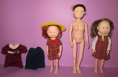 """Eden Toys Madeline and Friends 7""""-10"""" Miss Clavel Nun Danielle Doll Clothes Lot!"""