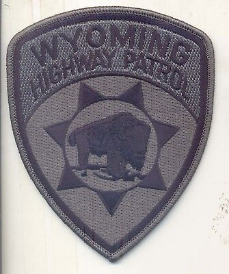 Wyoming Highway Patrol Police subdued patch