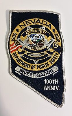 Nevada DPS Investigation 100th Anniversary Police patch