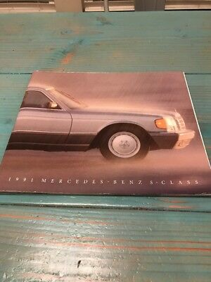 1991 Mercedes Benz S-Class Overview Dealer's Sales Brochure /Booklet Information
