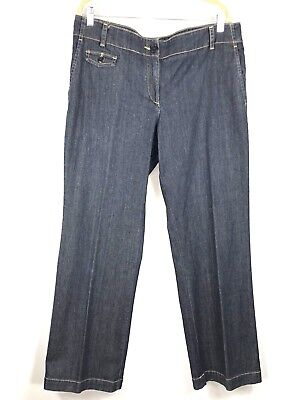 Talbots Women's Trouser Jean 16 Signature Flare Mid Rise Stretch Plus MINT