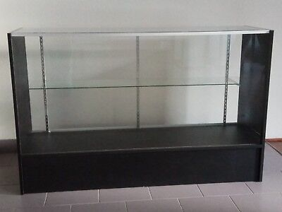 Glass Display Cabinet / Showcase Shop Counter with black side & bottom frame