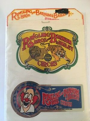 vintage rare Ringling Brothers and Barnum Bailey Circus stickers Are Early 1980s