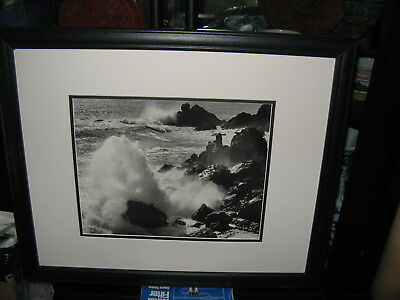 Seascape B&W Coastal Scene, Awesome Photo in Nice Frame & matted