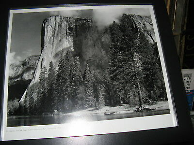 1940's B&W Landscape Scene, Awesome Yosemite Photo Nice Frame, w/glass & matted