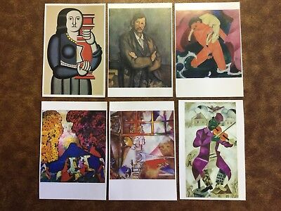 ART GALLERY OF NEW SOUTH WALES POSTCARD COLLECTION. x6 POST CARDS UNUSED