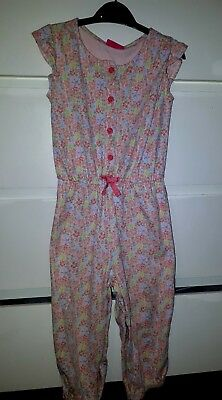 Next Pink Flowery Jumpsuit Age 3-4Yrs