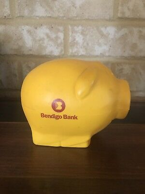 Vintage Bendigo Bank Money Box- Plastic Pig Circa 1970's-RARE!
