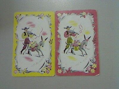 2 Swap/Playing Cards -  Pair Man with Donkey
