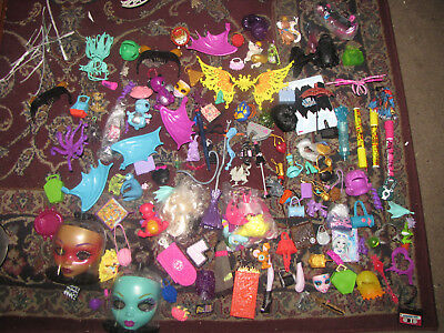 Monster High and Ever After High accessories lot, includes Apple's Dragon