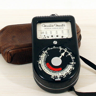 Weston Master Universal Exposure Meter S74/715 + Leather Case - Vintage  *VGC*