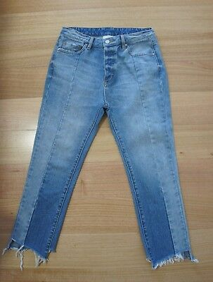 Witchery High Wasted Faded 3/4 Jeans, Size  10 Immaculate Condition
