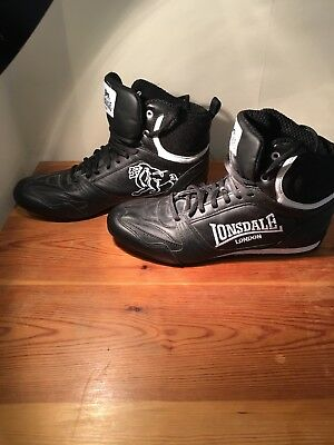 Lonsdale Contender Low Boxing Boots  Adults Shoes Black - White. UK8 / EUR 43.