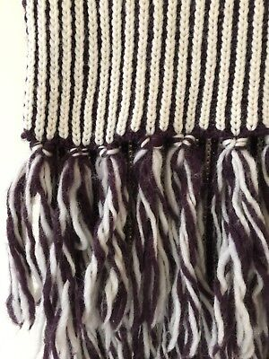 Calvin Klein pure wool extra large knitted scarf made in Italy EC
