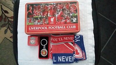 Liverpool Football Club (LFC) Soccer-Tin-Key Ring-Scarf-Cloth