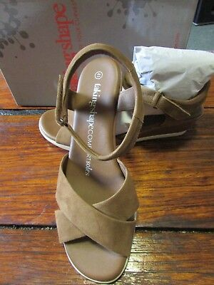 TAKING SHAPE TS Ladies shoes wedge leather 42 11 plus wide NWT RR $160