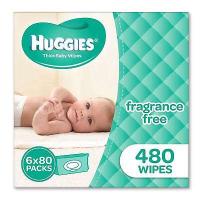 Huggies Fragrance Free Baby Wipes Bundle 480 Pack | FAST FREE POSTAGE