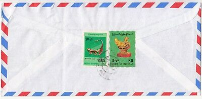 Myanmar: Airmail Cover to Northampton, c.2000