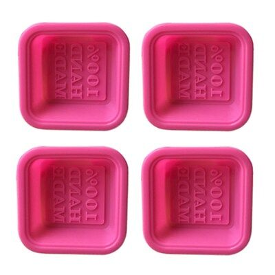 16pcs Soap Molds Square Oval Clover Baking Mold Silicone Molds for Gift Home DIY