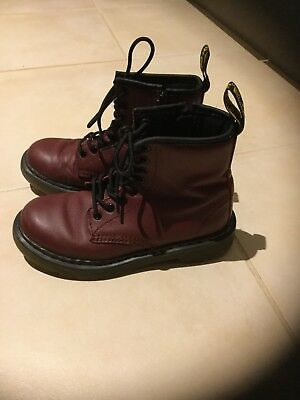 US size 13 kids Dr Martens - cherry red