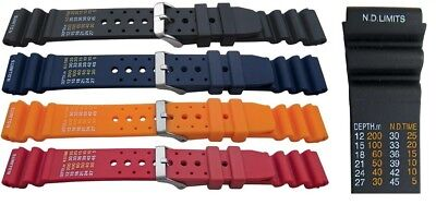 ND limits XL scuba diving watch strap Fits many smartwatches Free pins and tool