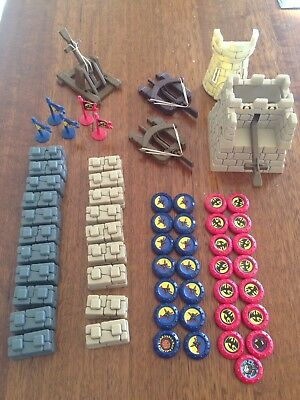 Crossbows and Catapults ~ Large Lot ~ by Tomy Games 1983 ~ Retro Vintage