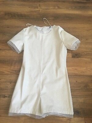 Missguided Peace and Love White PU Playsuit, Size 14