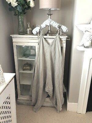 Grey Linen Jumpsuit | One size fits all