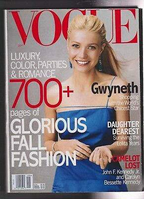 Vintage Magazine - VOGUE - September 1999  - GWENTH PALTROW  Cover GISELLE